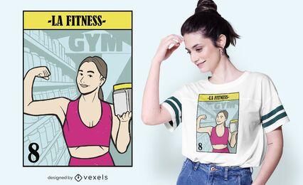 Diseño de camiseta LA fitness