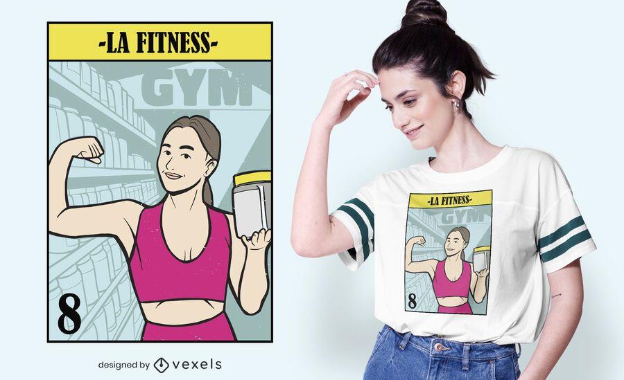 LA fitness t-shirt design