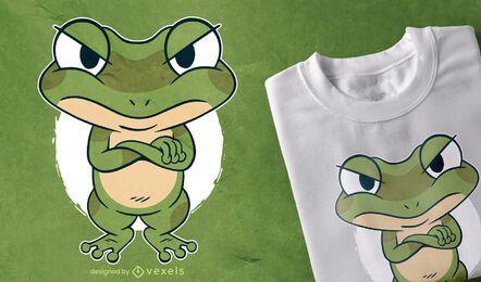 Diseño de camiseta de rana loca