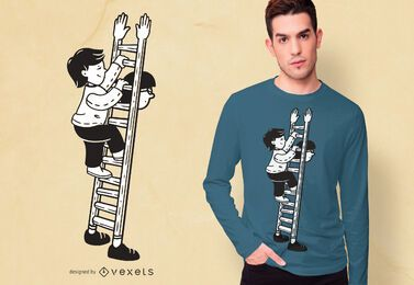 Dad ladder t-shirt design