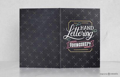 Design de capa de livro alemão com letras à mão