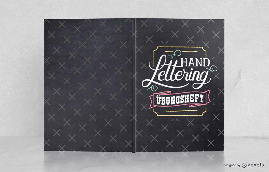 Diseño de portada de libro alemán con letras a mano