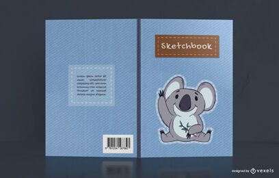 Cute Koala Sketchbook Cover Design