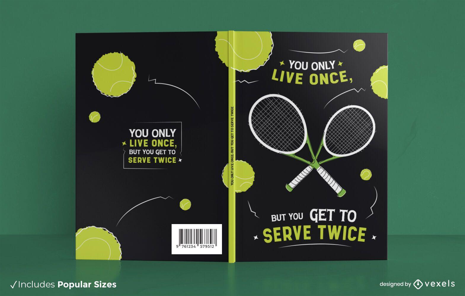 Dise?o de portada de libro de cita de tenis divertido