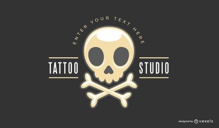 Tattoo studio logo template