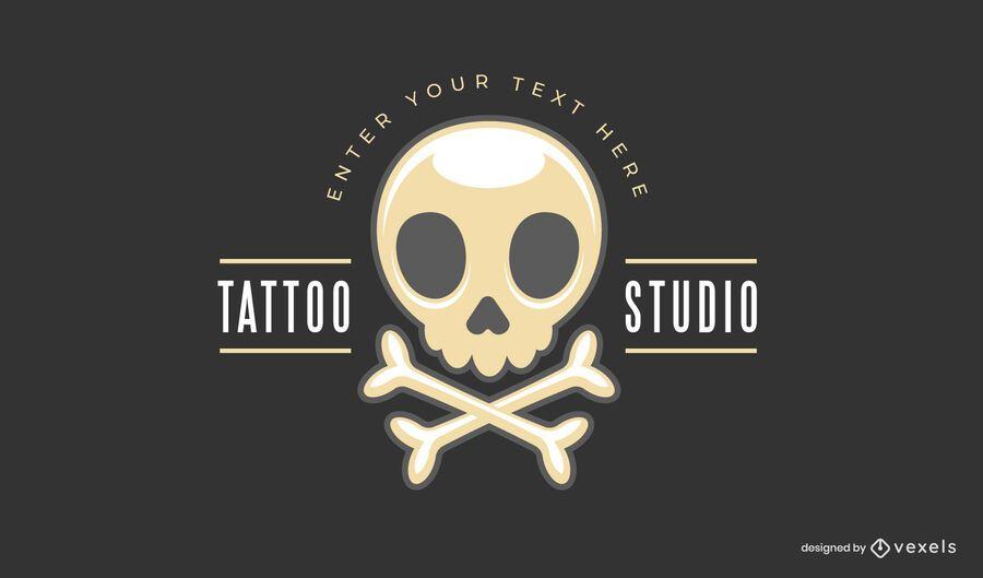 Modelo de logotipo de estúdio de tatuagem