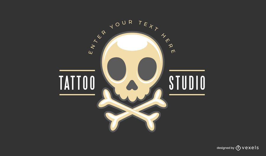 Plantilla de logotipo de estudio de tatuajes