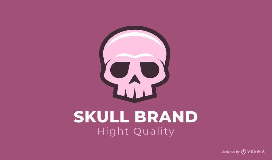 Modelo de logotipo da marca Skull