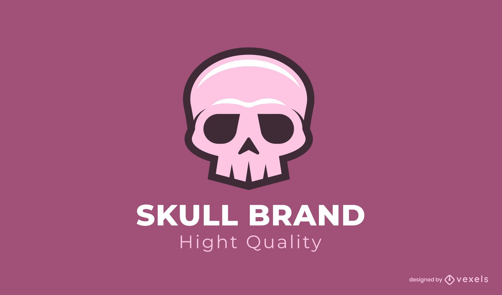Plantilla de logotipo de marca de calavera