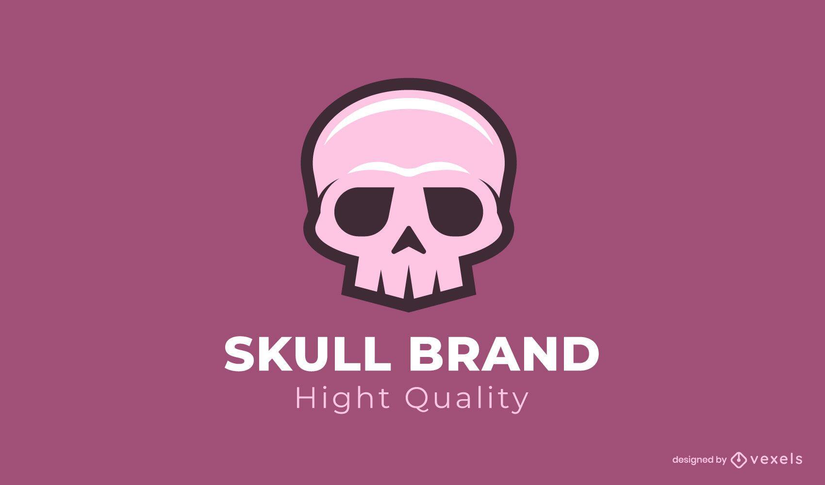Skull brand logo template