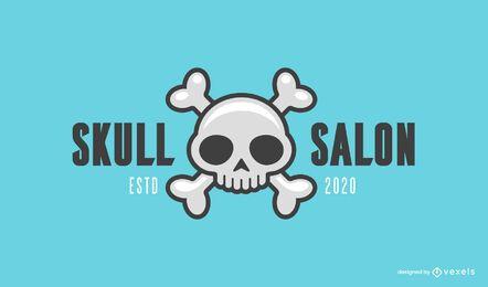 Schädel Salon Logo Vorlage