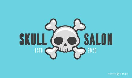 Skull salon logo template
