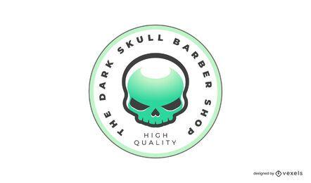 Alien skull logo template