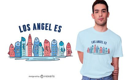 Diseño de camiseta Fish Skyline