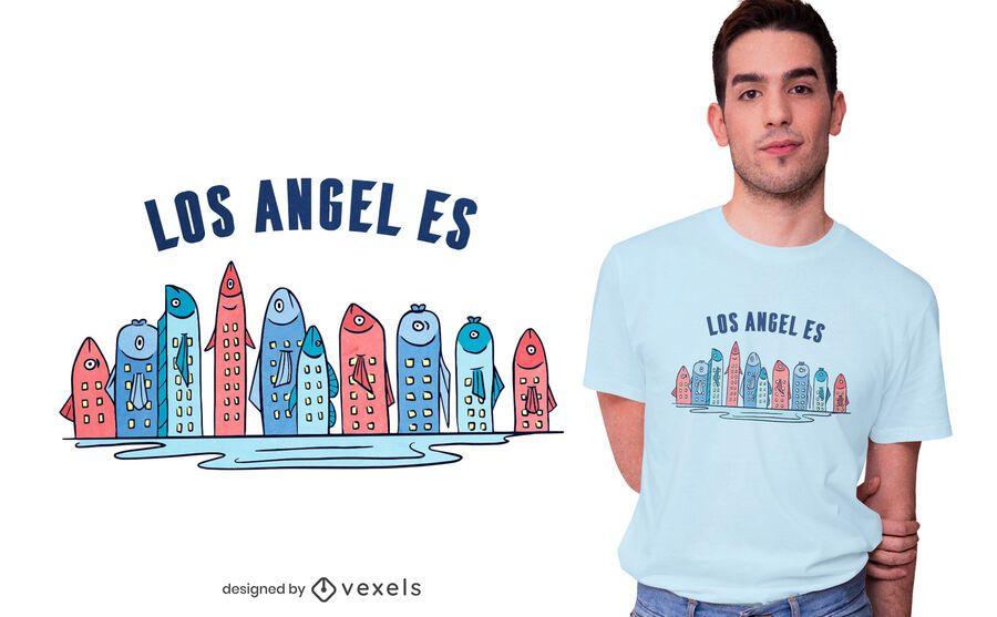 Design de camisetas Fish Skyline