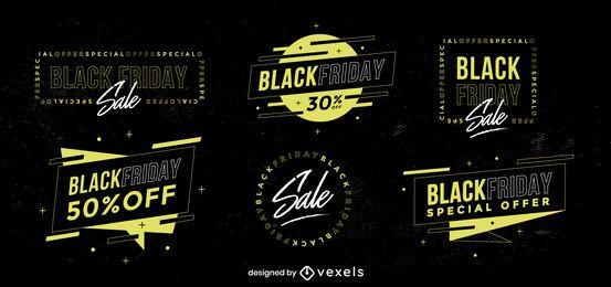 Black Friday Sale Abzeichen Sammlung
