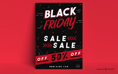 Black friday promo poster design