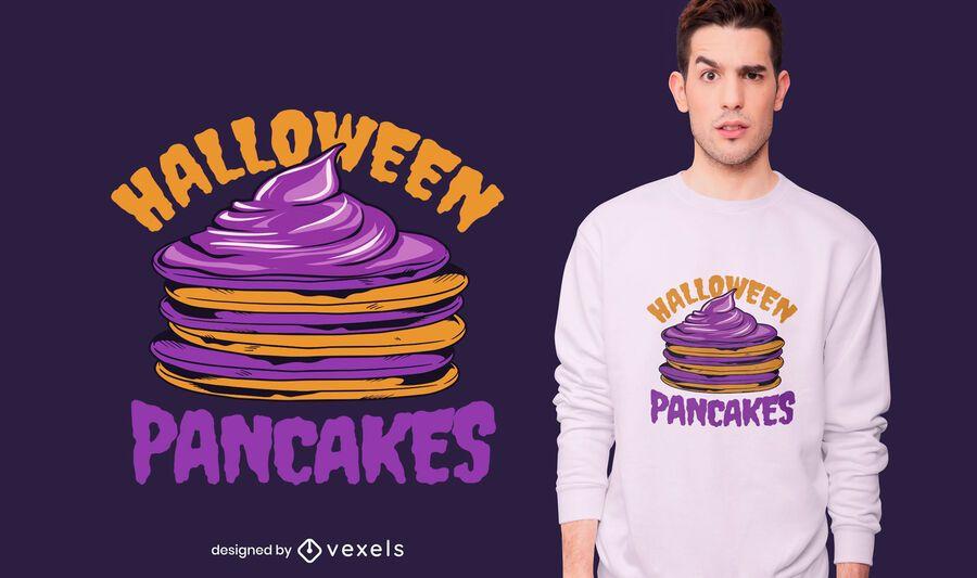 Diseño de camiseta de panqueques de Halloween