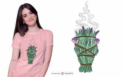 Weißes Salbei-T-Shirt Design