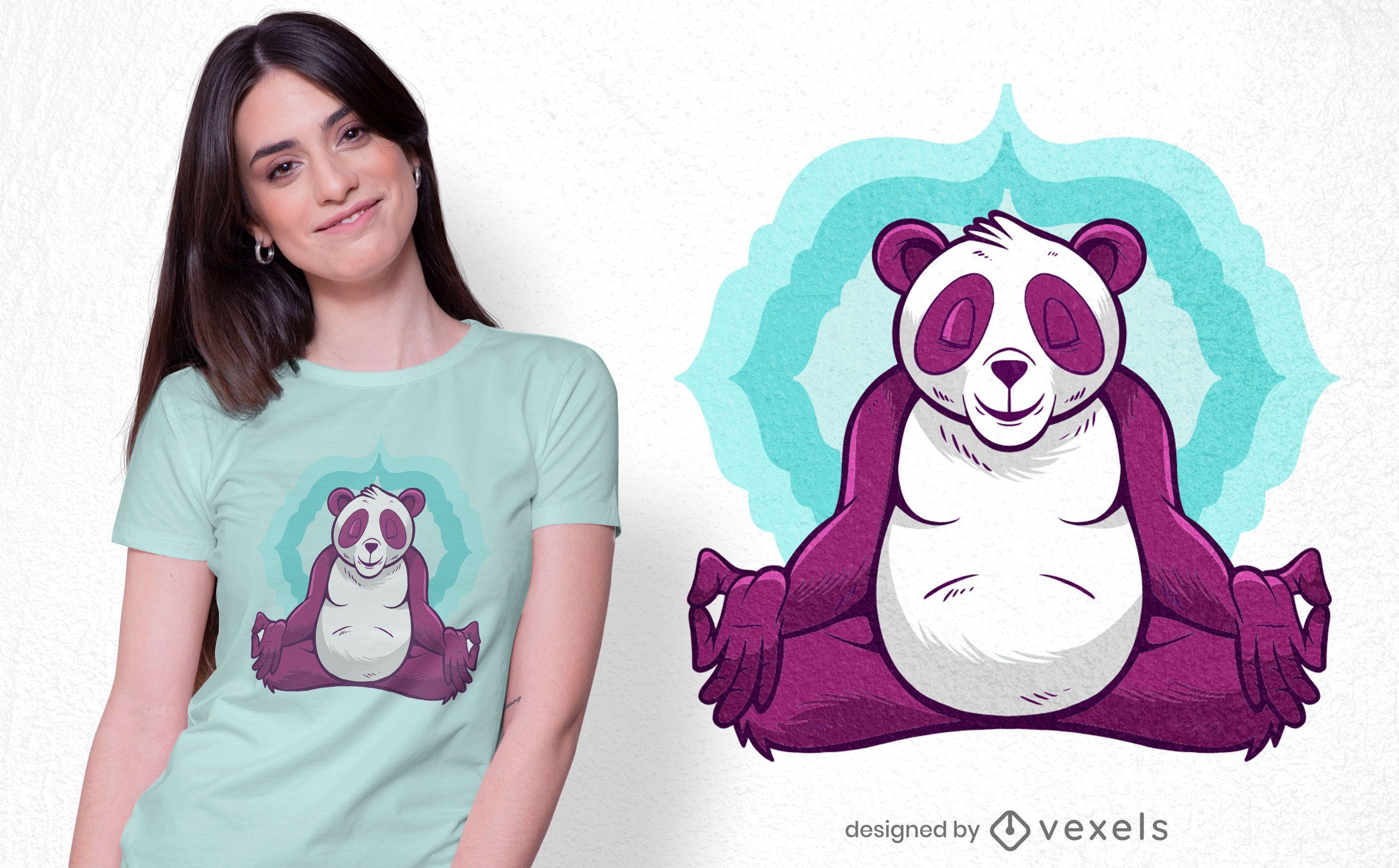 Panda meditation t-shirt design