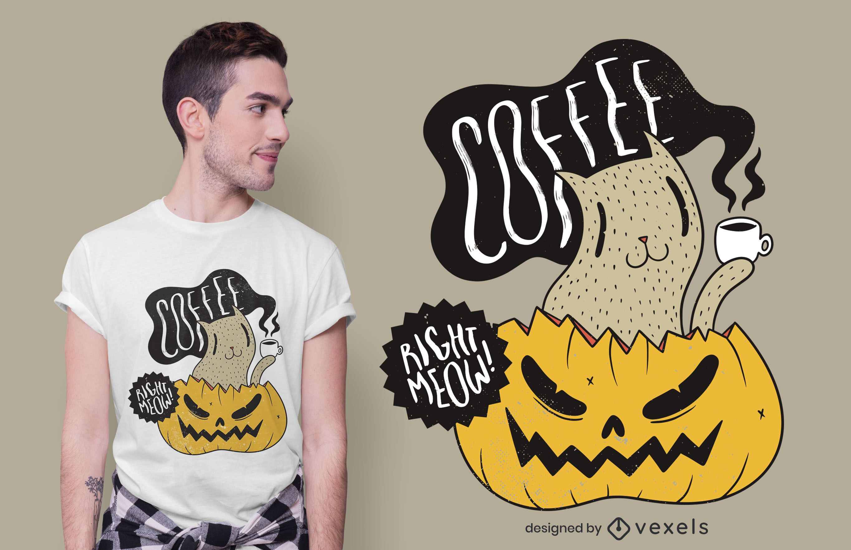 Diseño de camiseta Coffee Right Meow