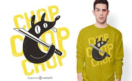 Diseño de camiseta chop dog