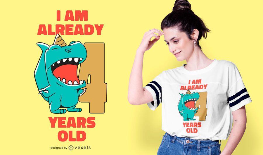 Dinosaur bday t-shirt design