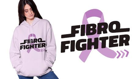 Fibro fighter t-shirt design