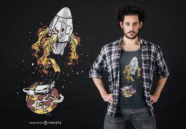 Diseño de camiseta de aterrizaje de coche.