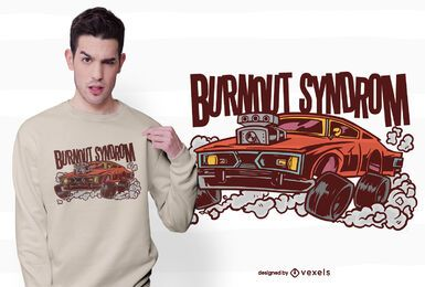 Design de t-shirt Burnout Syndrom