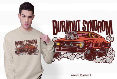 Diseño de camiseta de síndrome de burnout