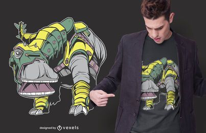Dinosaurier Rüstung T-Shirt Design