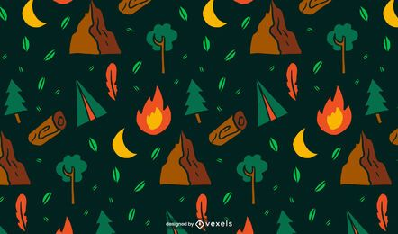 Camping pattern design