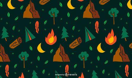 Diseño de patrón de camping