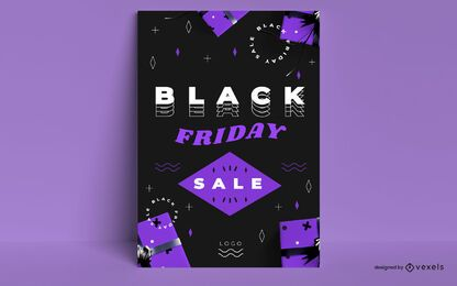 Black friday sale black poster design