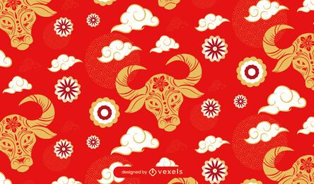 Year of the ox pattern design