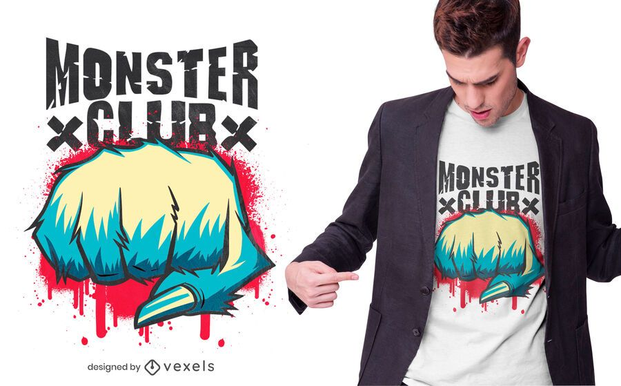 Diseño de camiseta Monster Club