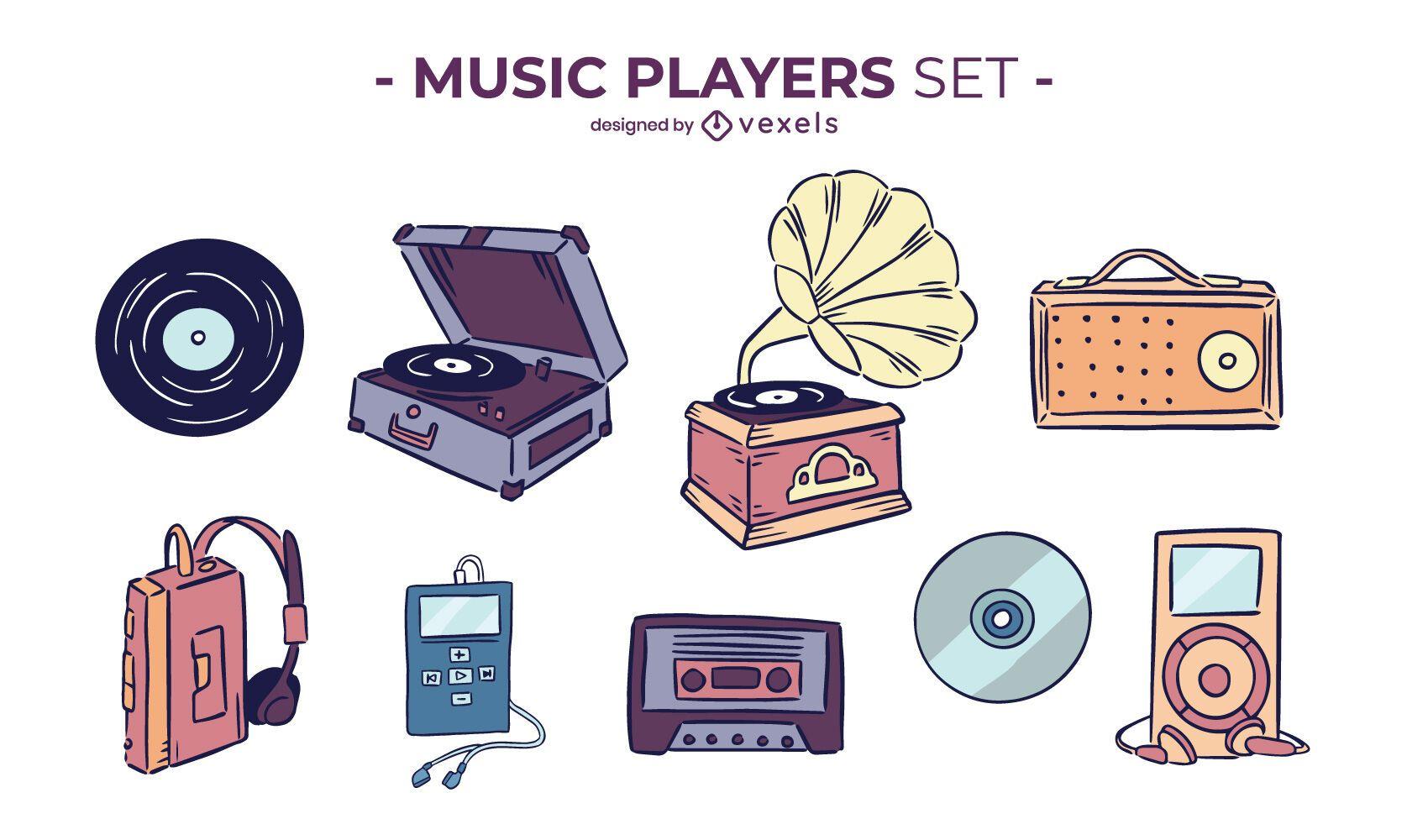 Cenografia do player de música