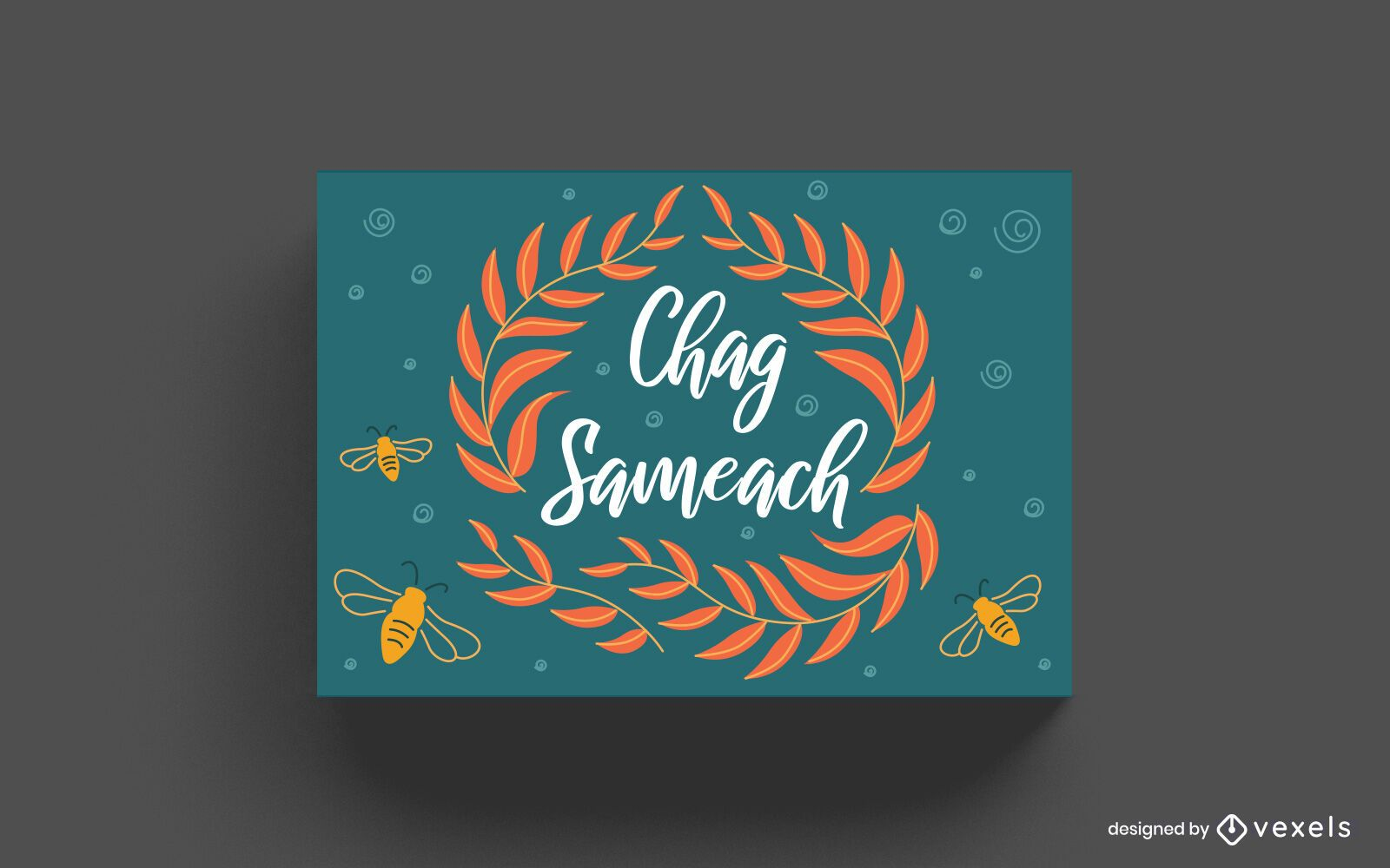 Diseño de tarjeta de letras Chag Sameach