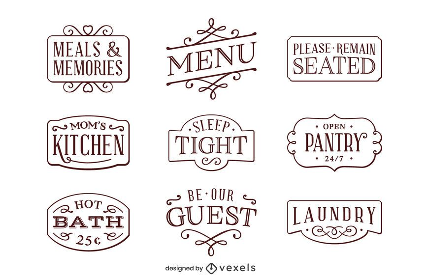 Home decor label pack
