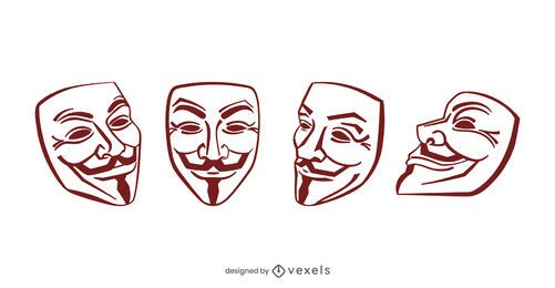 Guy Fawkes Mask Design Set