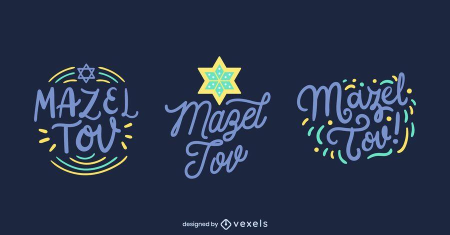 Mazel tov lettering set