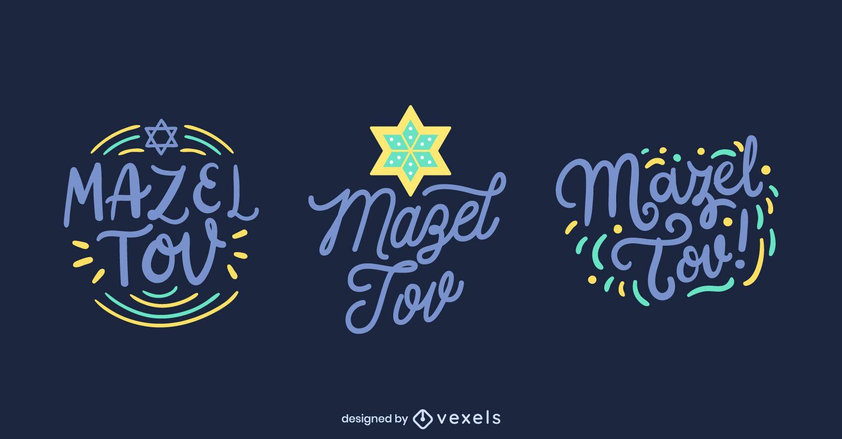 Conjunto de letras mazel tov