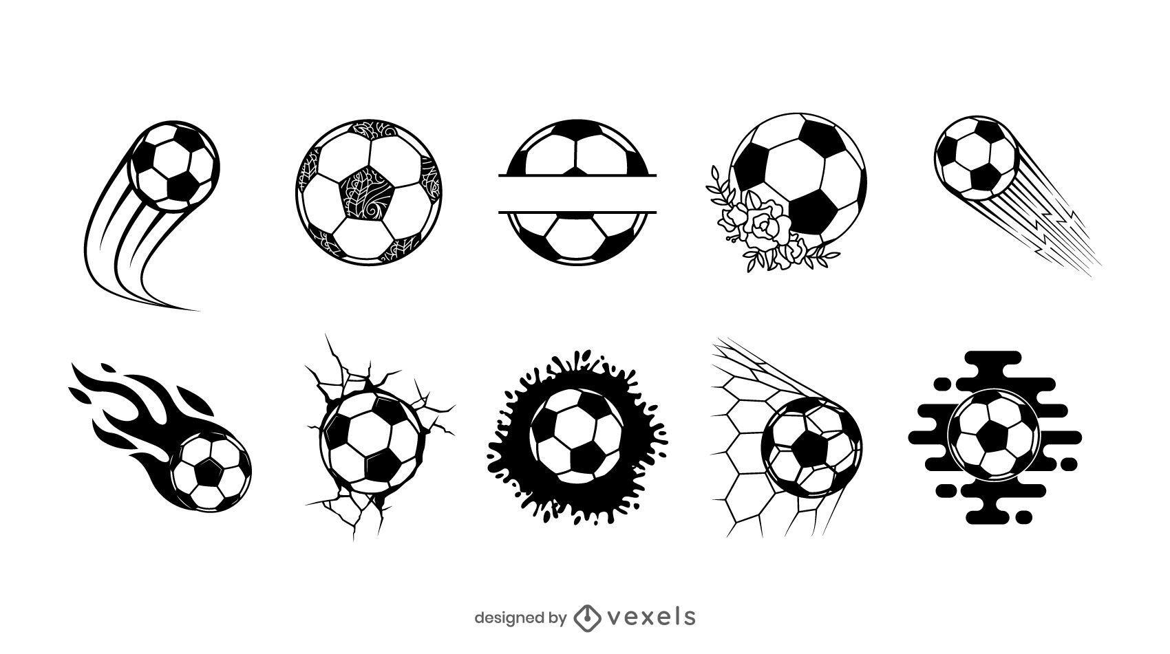 Soccer balls set design