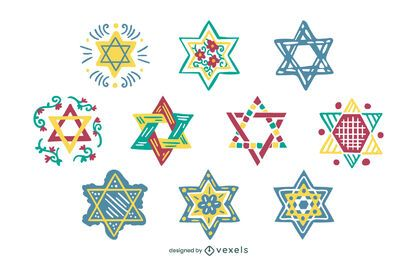 Star of david set design