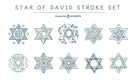 Conjunto de traços da estrela de David