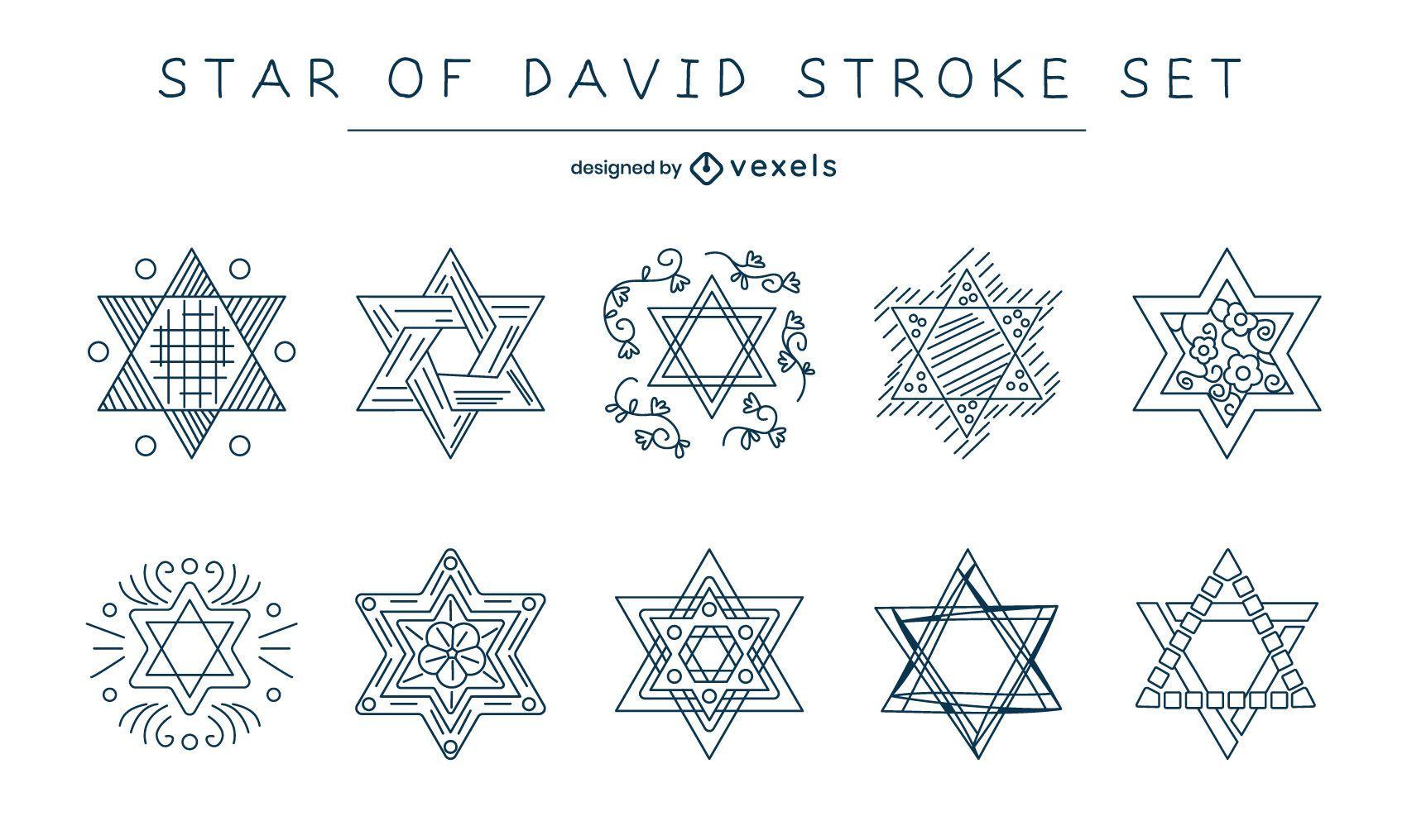 Star of david stroke set