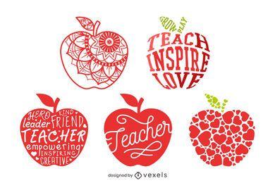 Conjunto de composición de manzana maestra