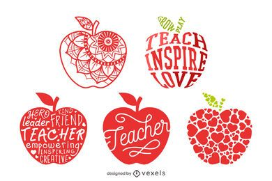 Teacher apple composition set