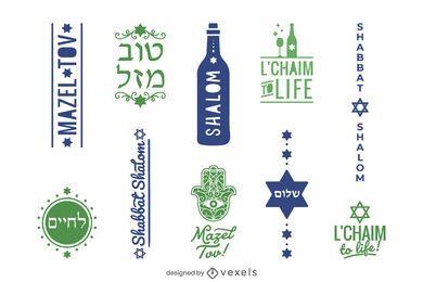 Conjunto de etiquetas de refranes judíos